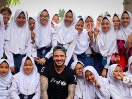 David Beckham on Girls' Day