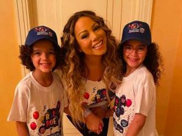 Mariah Carey with her children