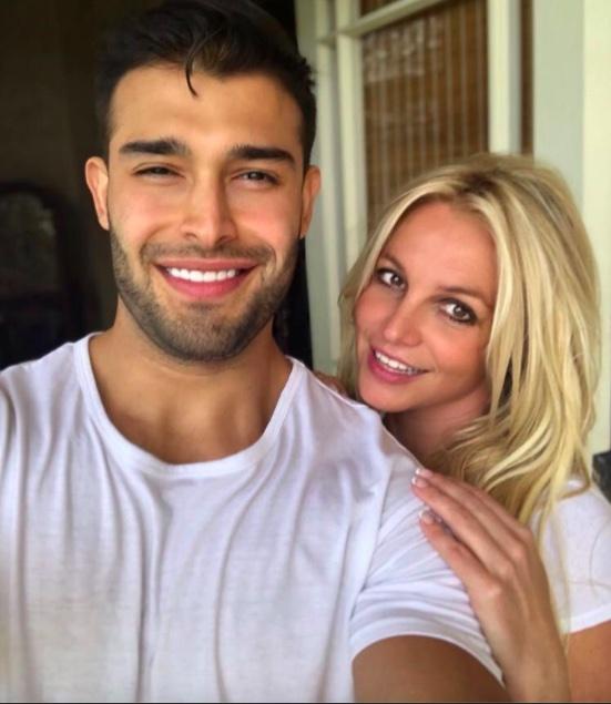 Britney Spears with boyfriend Sam Asghari