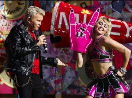 Miley Cyrus at Super Bowl